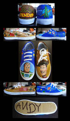 Toy Story Shoes by wenuwishuponastar