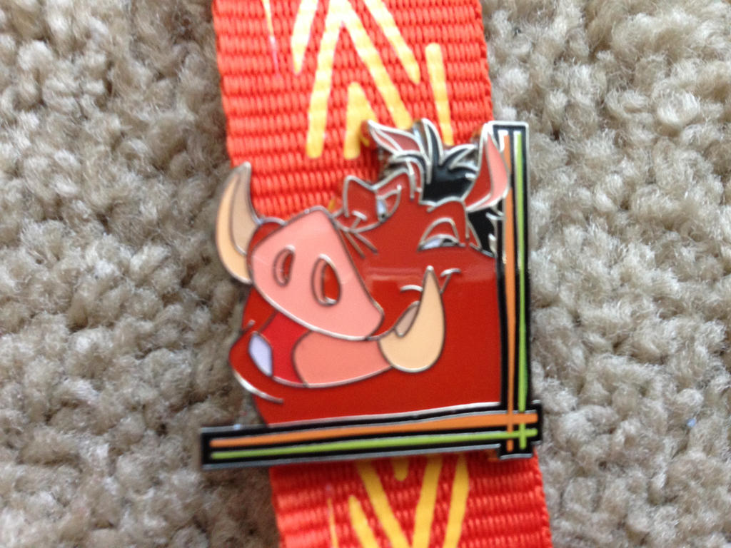 Pumbaa lanyard pin by Nala1994