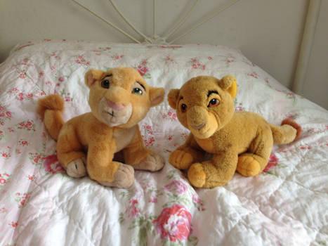 Baby Simba and Nala