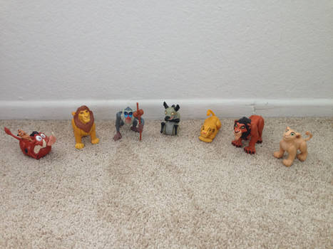1994 Lion King Burger King Toys whole set