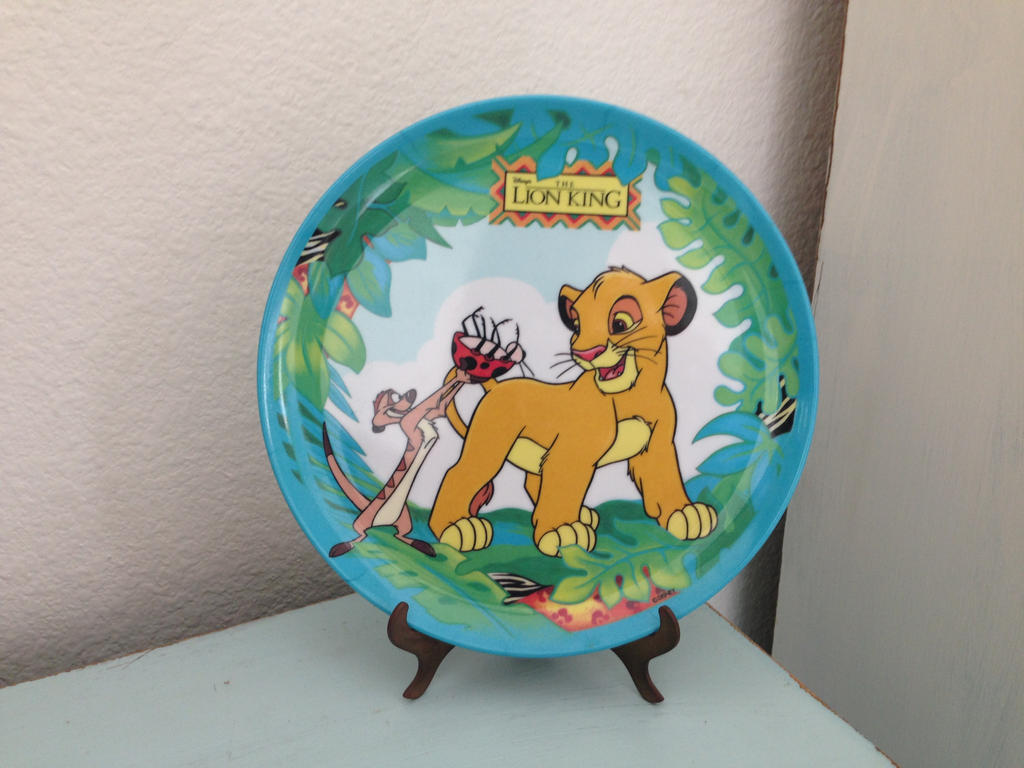 Vintage Simba and Timon Plate by Nala1994