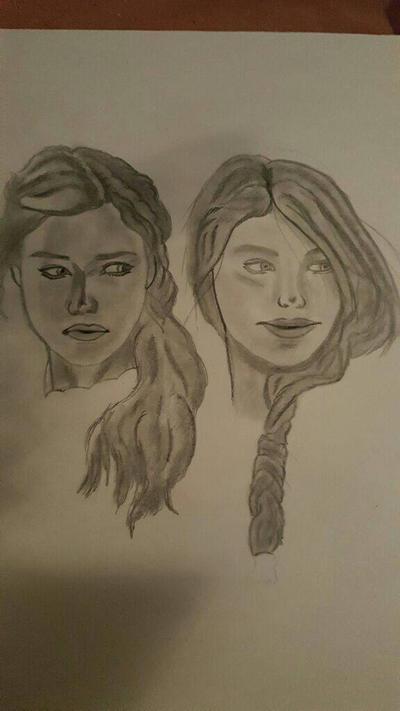 Girls with braids II by GreyCore