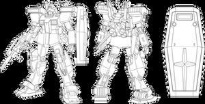 HGUC GM-III Line Art