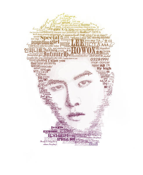 Hoya (Infinite) - Typography Portrait by Danti2411