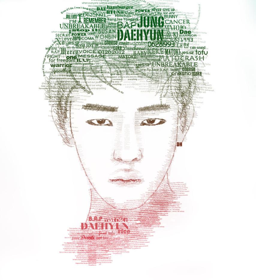 Daehyun (B.A.P) - Typography Portrait by Danti2411