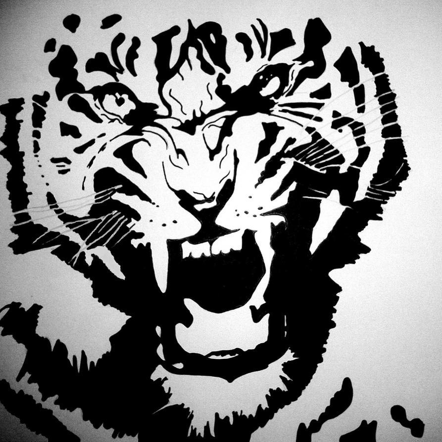 Tiger Face Pumpkin Stencil