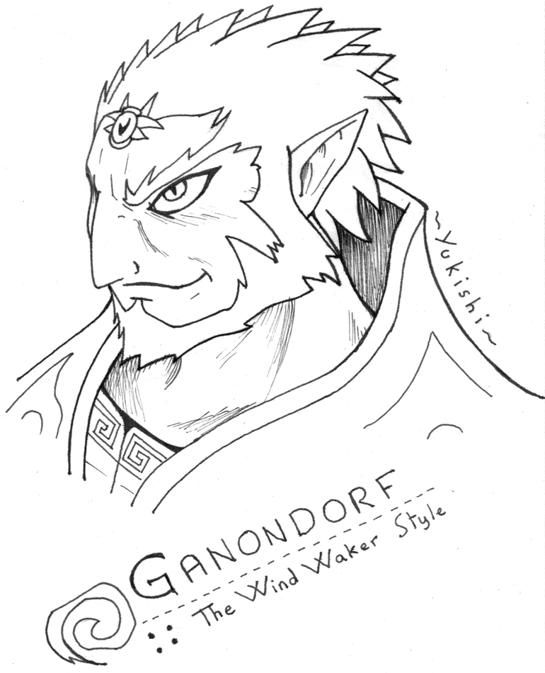 ganondorf coloring pages - photo#20