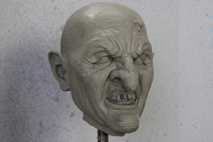 Witch full head sculpture by CarnevaleObscura
