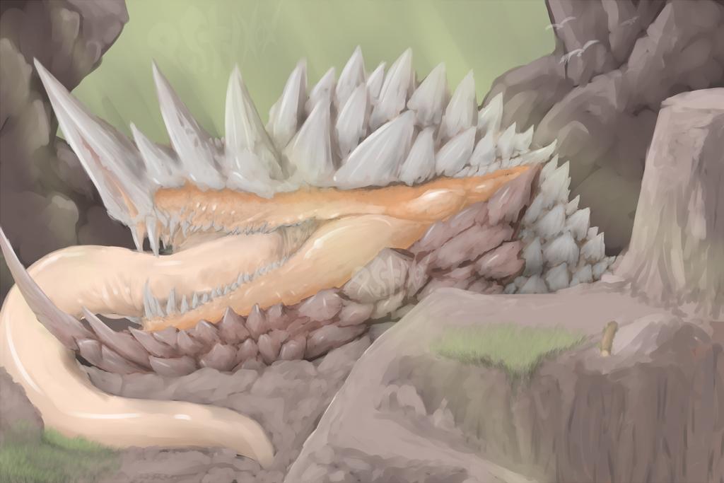 Live Mountain - Dragon Mollusc v2 by PustyXoX