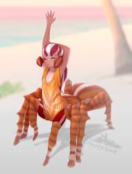 Smoll spider-monster girl (d) by PustyXoX