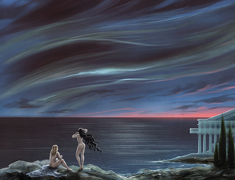 Lovers by the sea by Develv