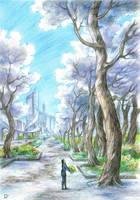 White trees by Develv
