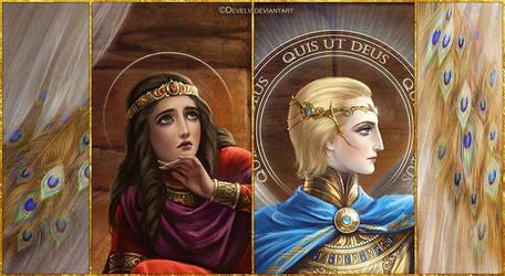 The prophet Daniel and St. Archangel Michael - 2