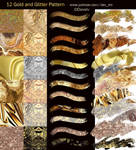 12 Gold and Glitter Pattern pack