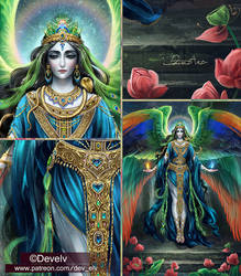 Melek Taus - Peacock Angel - preview of new art!