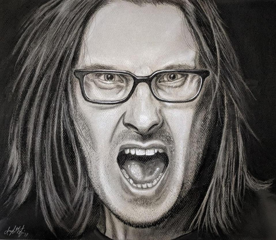 Steven Wilson Charcoal by CosmicDebris