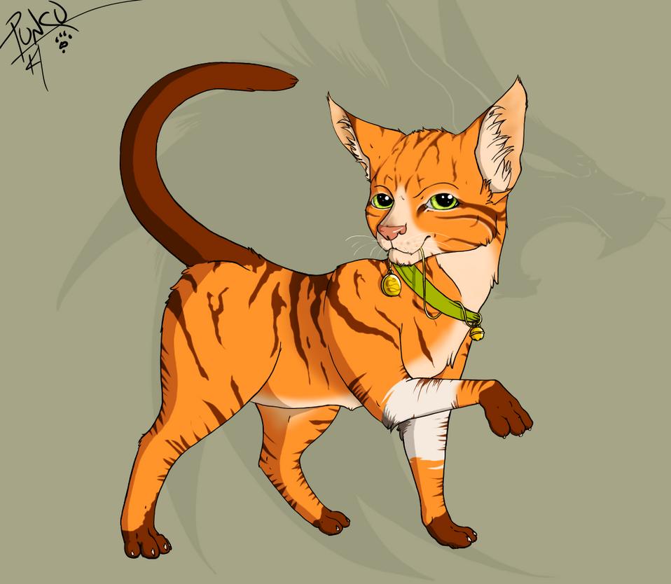 Skimbleshanks the (feral) railway cat by punkucats
