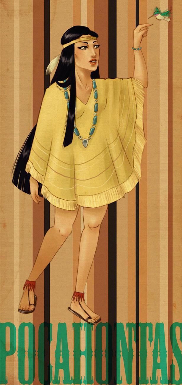 DPP: Retro Pocahontas by Vimeddiee
