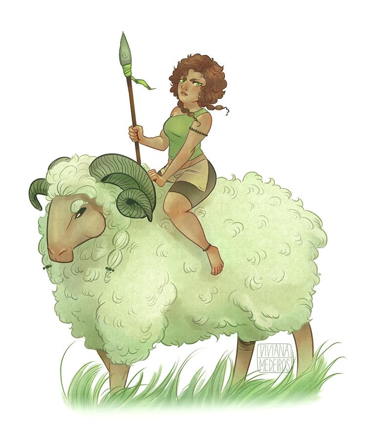Mr Sheep and Miss Sienna by Vimeddiee