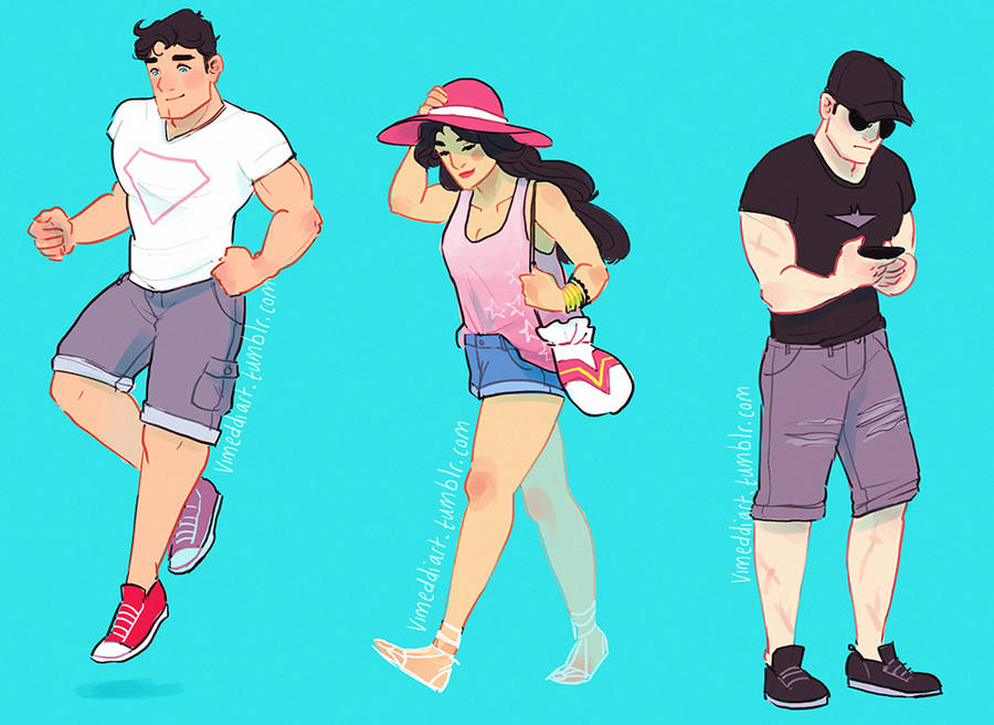 DC Summer Squad by Vimeddiee