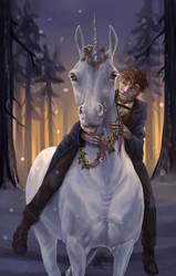 Happy New Year, my little unicorn. by Almatea-Art