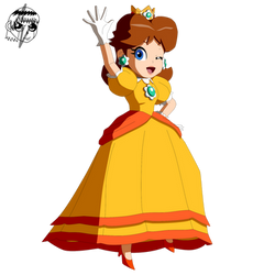 Princess Daisy saying hi to everyone - Redux by ZatchHunter