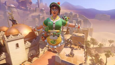 Mei - Anubis's huge happy Honeydew