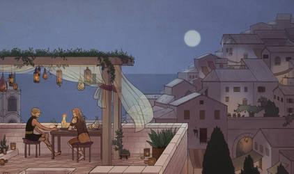 Antiva City at Night by eve-bolt