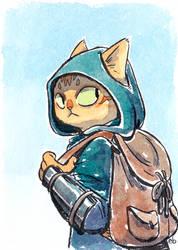 Cat Adventurer by eve-bolt