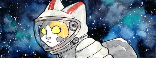The Cat-stronaut by eve-bolt