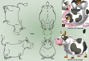 Design and textures - Cow