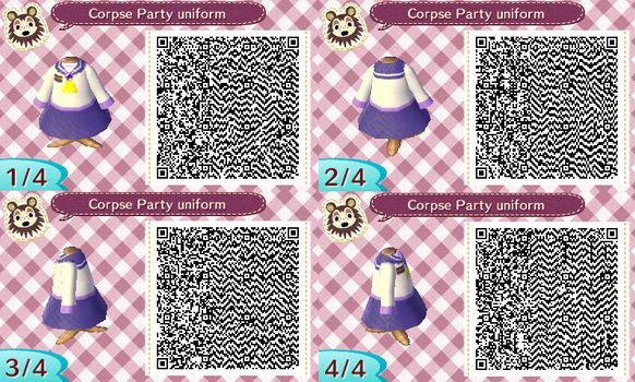 Animal Crossing Corpse Party girls uniform