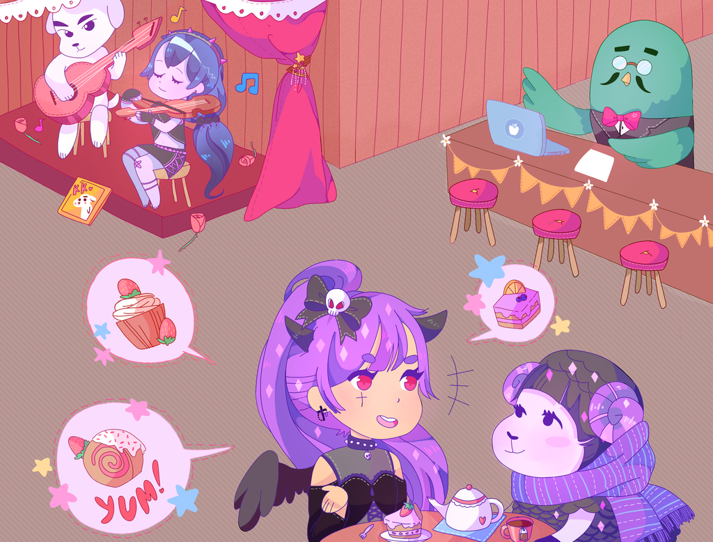 chatting at the roost cafe by yukidarudoki on deviantart