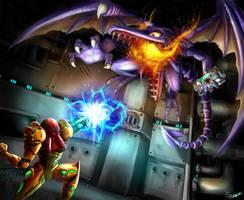 Samus Vs. Ridley - Super Metroid