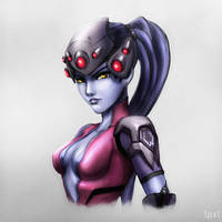 Widowmaker Portrait by lowpixil
