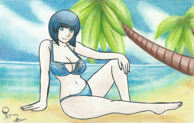 Cleopatra on beach