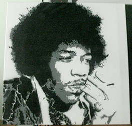 Jimi Hendrix by jarbid