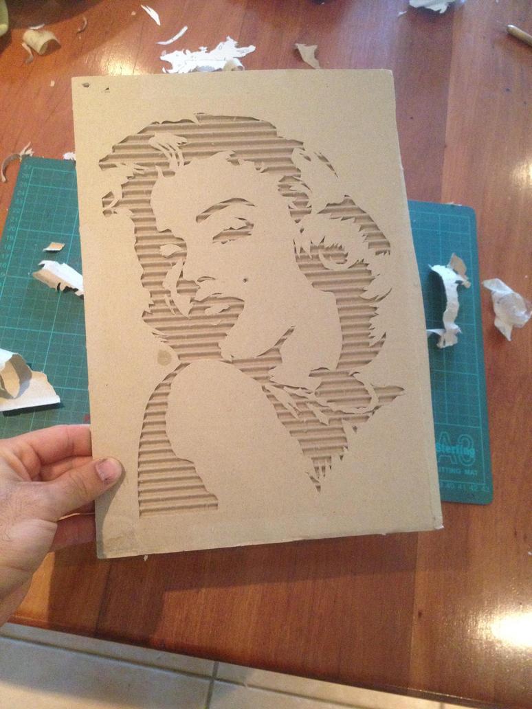 Marilyn cut out by jarbid