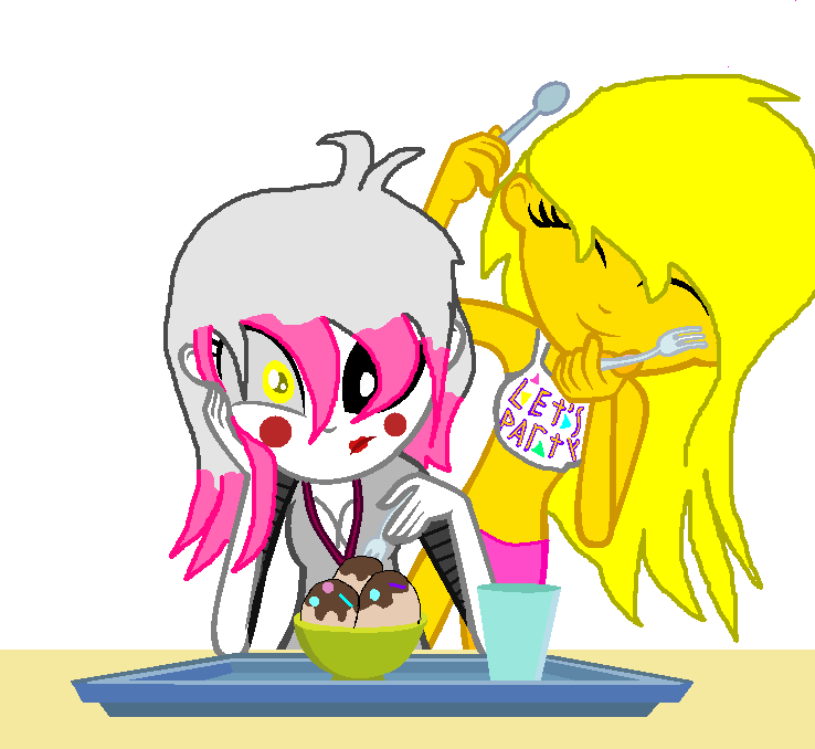 Eqg fnaf 2 mangle and toy chica by ninahunter on deviantart