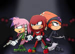 Echidnas squad - Shade Knux and Julie-Su by NinaHunter