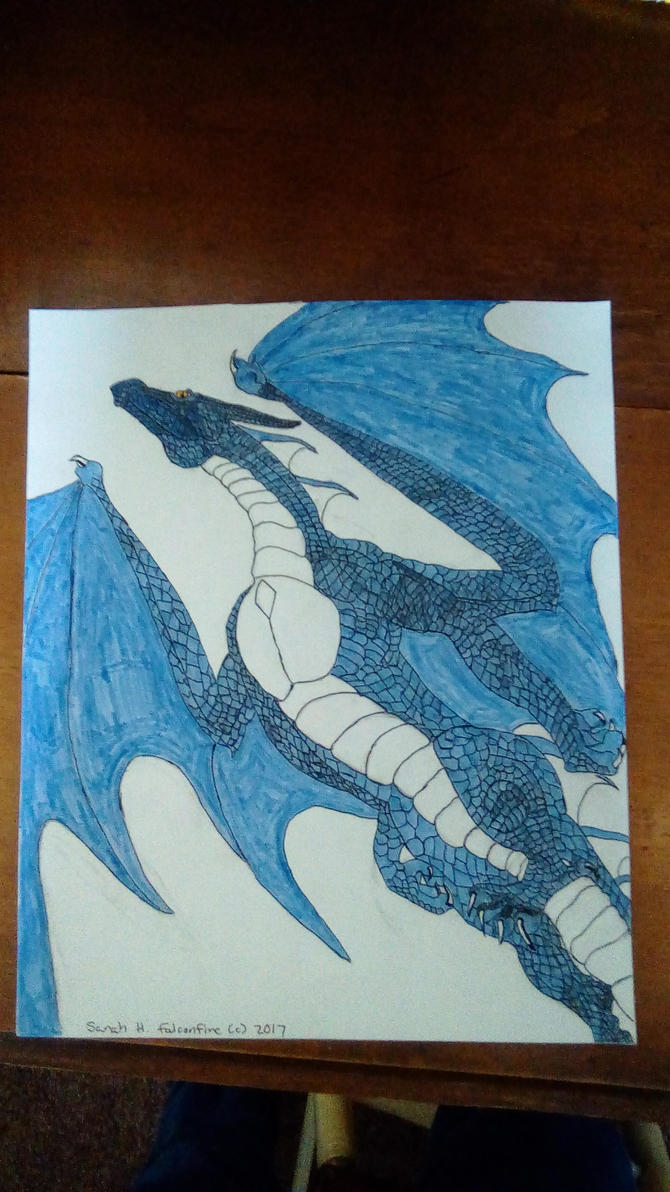 Dragon birthday gift for Xana by falconfire
