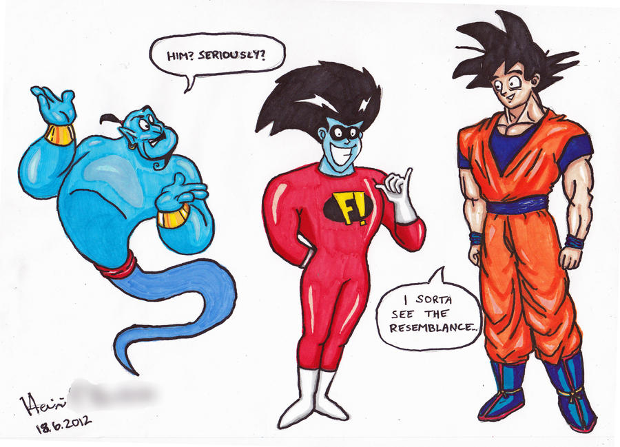 The Fusion Of Genie And Goku By Angel Of Milkyway On