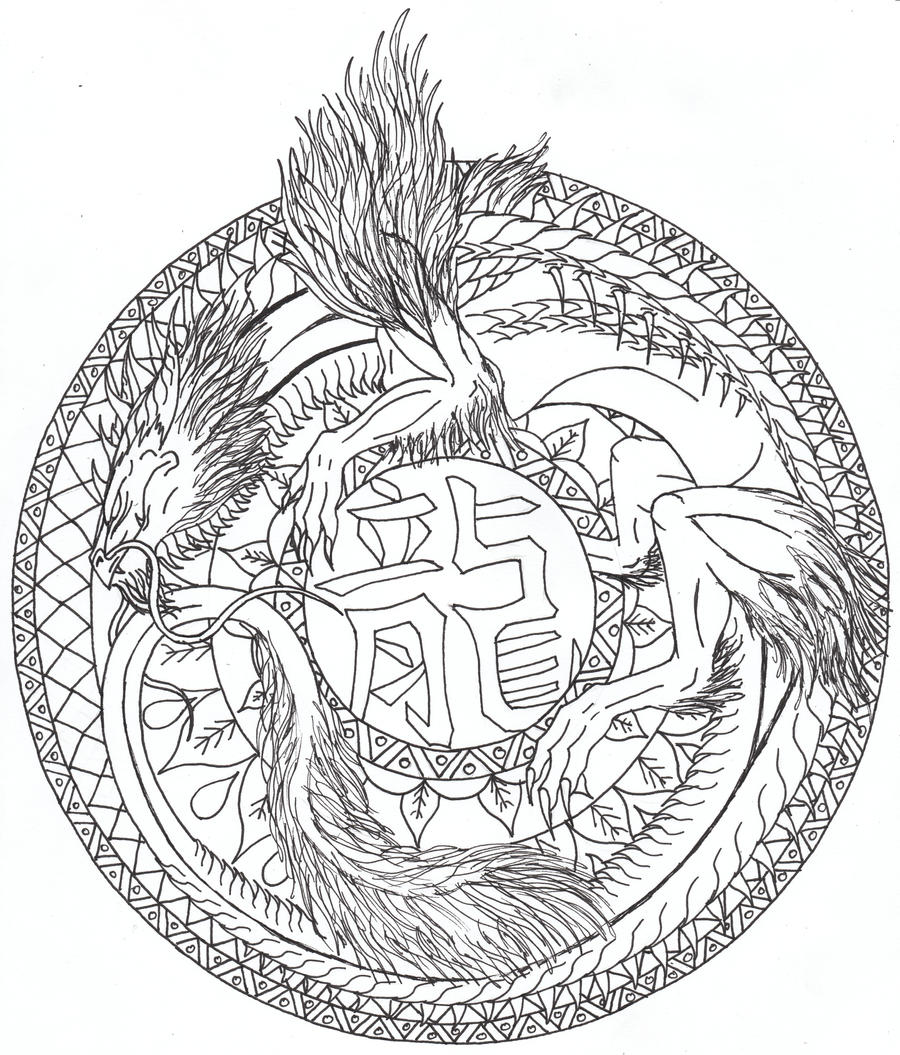 Dragon mandala by airegon on deviantart - Mandala de dragon ...