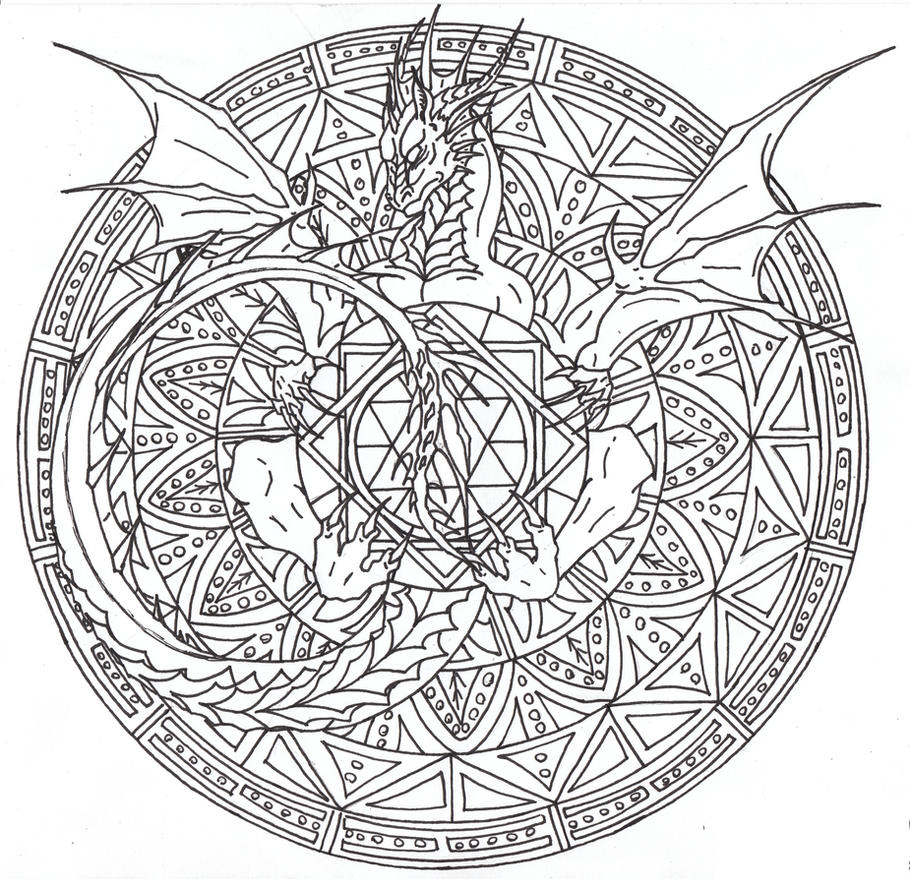 dragon adult coloring pages - photo#33