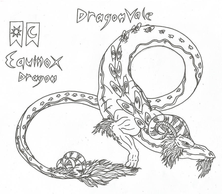 coloring pages dragons kids coloring pages dragonvale equinox dragon by airegon on deviantart - Dragonvale Dragons Coloring Pages