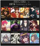 Usagi's 2016 Summary of Art by Orcagirl2001