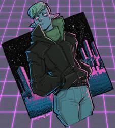 Space Colony - Retro Night by Orcagirl2001