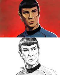 Spock Sketch by Orcagirl2001