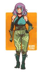 Bamboo Warrior by Orcagirl2001