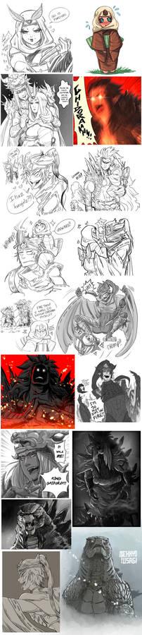 Godzilla Sketch Dump